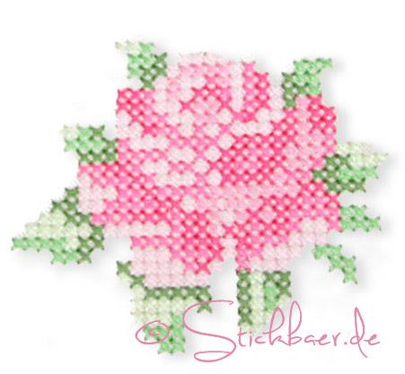 rose-handgestickt