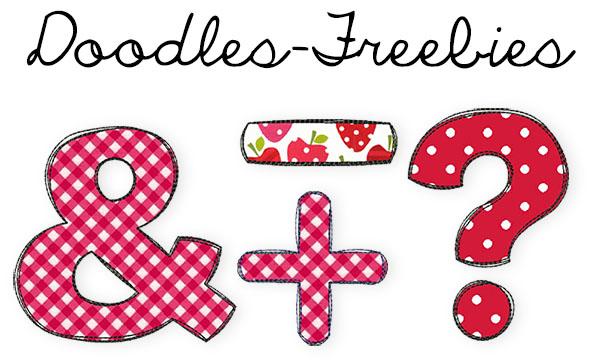 Doodles-Zeichen-Freebies