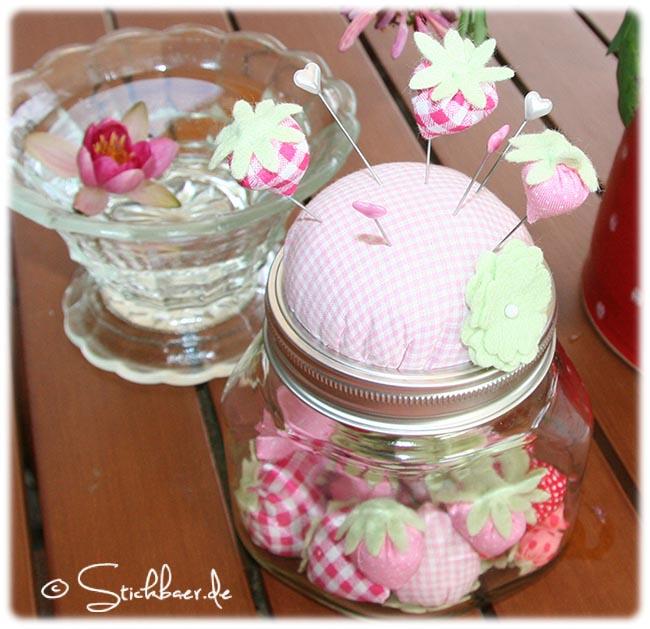 Erdbeerglas+Seerose