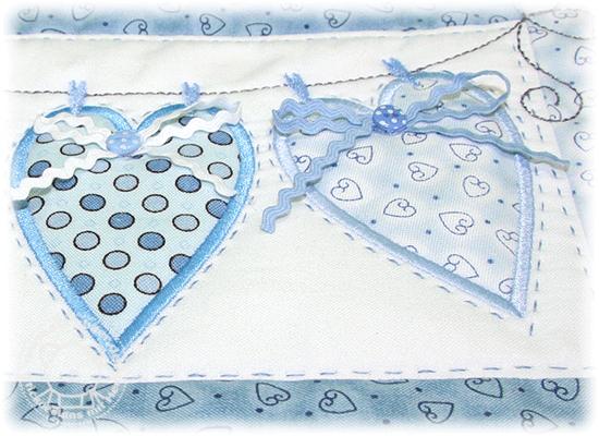 Herzen-Wandbehang