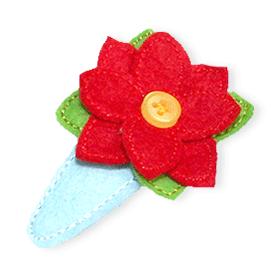Stickbaer-Haarspangenkleid-Knopfspange