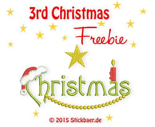 Stickbaer-Christmasfreebie